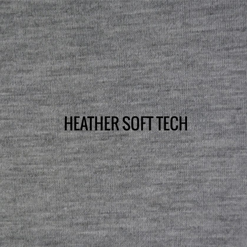 """""""HEATHER SOFT TECH"""" I Shirt Fabric I Super comfortable 100% Poly Performance fabric. Looks and feels like cotton. Duo tone finish gives fabric a versatile look, whether you theme is classic, retro or trendy"""