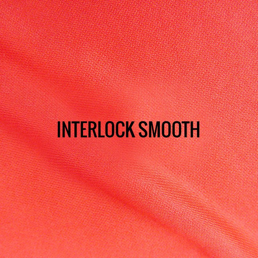 """""""INTERLOCK MICROSMOOTH"""" I Shirt Fabric I One of our original fabrics, this interlock Micro smooth 100% Poly performance fabric keeps runners dry, comfortable and cool. Tightly woven with a smooth and silky lightweight feel."""