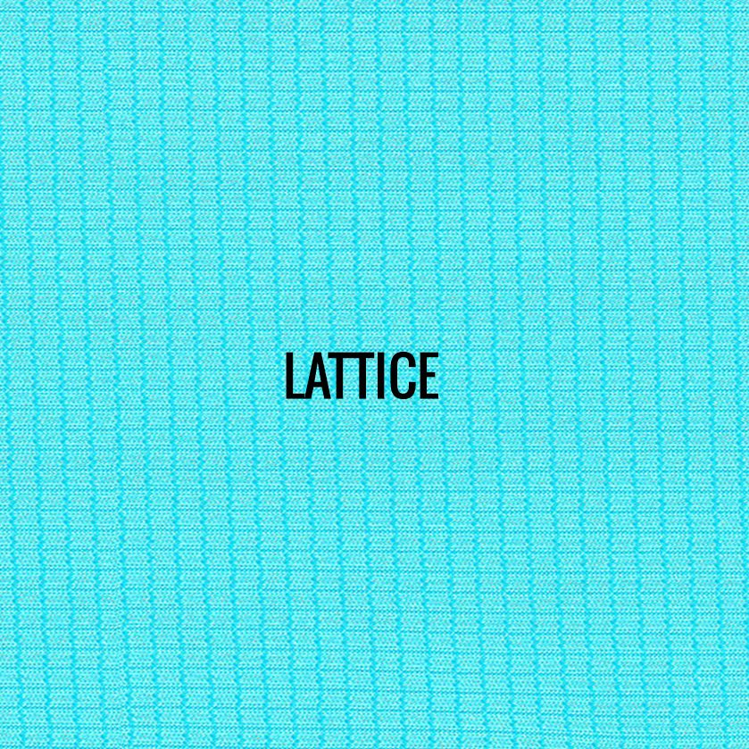 """""""LATTICE"""" I Shirt Fabric I Breathable performance fabric. Unique graphic block mesh fabric gives this lightweight fabric a sharp new look. Smooth against the skin. 100% Performance Poly"""