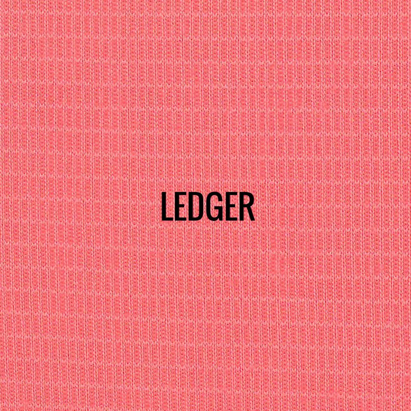 """""""LEDGER"""" I Shirt Fabric I Breathable performance fabric. Unique graphic block mesh fabric gives this fabric sharp new look. Smooth against the skin. 100% Performance Poly."""