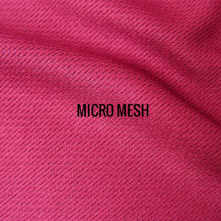 """""""MICRO MESH"""" I Shirt Fabric I Sporty 100% Poly performance micro mesh fabric. Breathable & lightweight, sturdy enough to handle long runs. Authentic athletic tech shirt feel."""